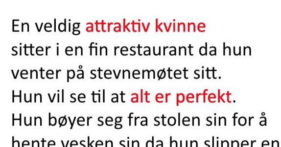 Den pene kvinnen fiser høylytt i en restaurant. Servitørens svar? Jeg ler så tårene triller!
