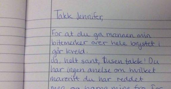 Hun finner ut at mannen har vært utro. Da skriver hun det PERFEKTE brevet til elskerinnen!