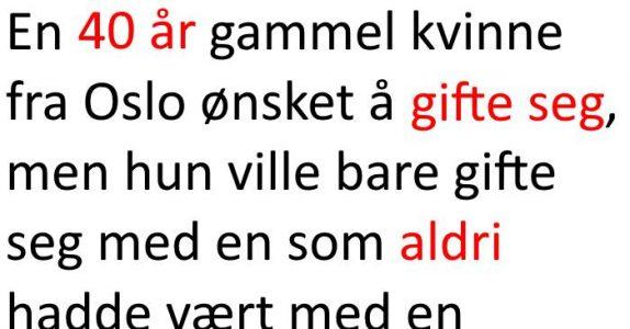 Hun giftet seg med en jomfru fra Finnmark. Resultatet? Jeg ler så tårene triller!